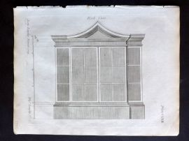 Langley 1777 Antique Architectural Print. Book Case 163